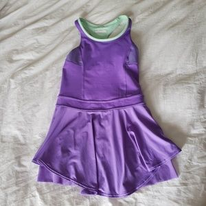lululemon Ivivva tennis court love dress purple 10